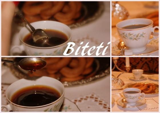 Biteti var noe som alltid ble satt fram før i tiden når man fikk gjester. Det var rett og slett uhørt og svært uhøffelig å ikke tilby noe når man fikk gjester. Det er rett og slett noe å bite i. Enten smått bakverk, kaffi, skjenk eller annen drikke.