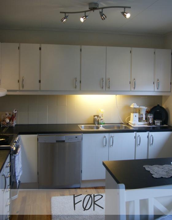 Tapetfornyelse på kjøkkenet