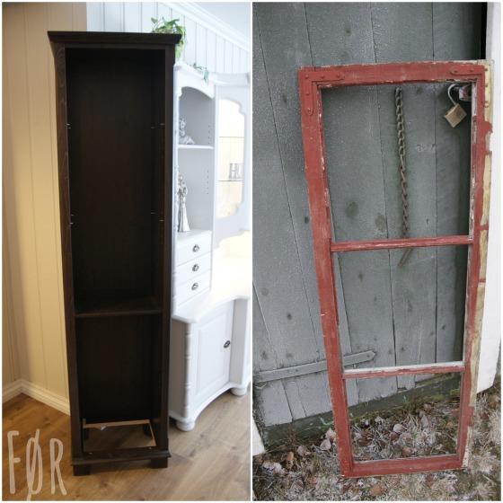 Fra brunt og gammelt ikea-skap til hvitt og sjarmerende stuemøbel